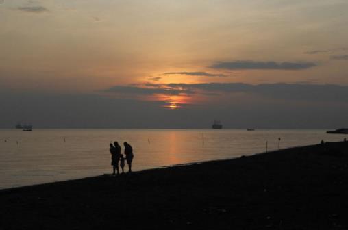 Foto Sunsest di Pantai Ngebum