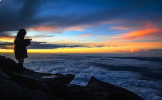 Foto puncak gunung slamet