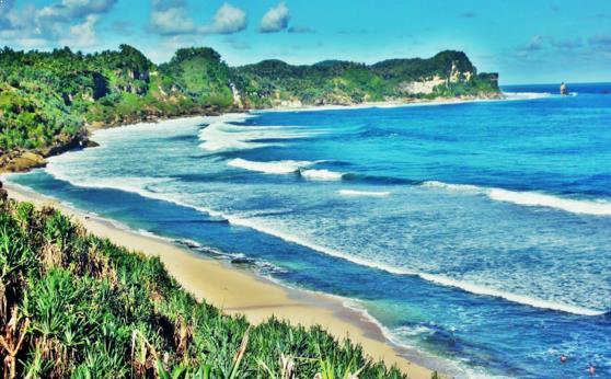 Gambar Pantai Nampu Wonogiri