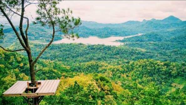 Pemandangan di Desa Wisata Kalibiru
