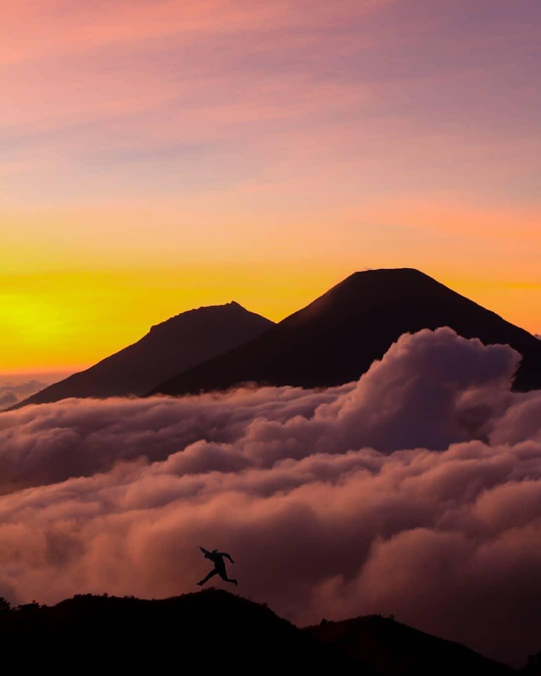 gunung prau foto