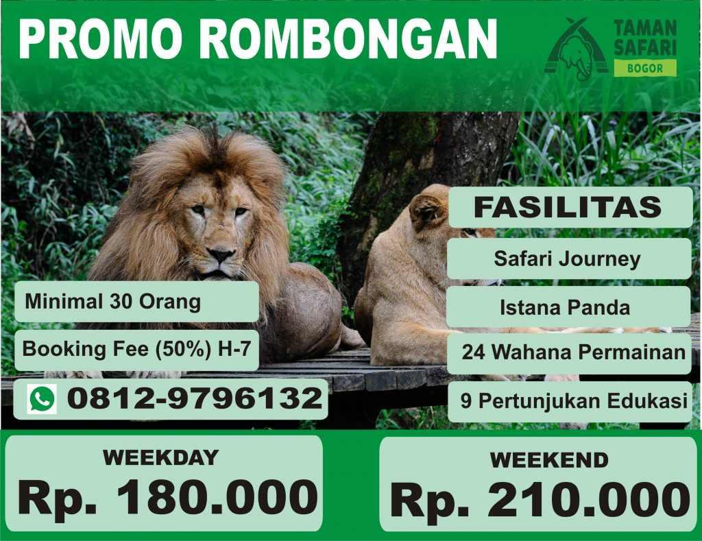 Promo Tiket Masuk Rombongan Taman Safari